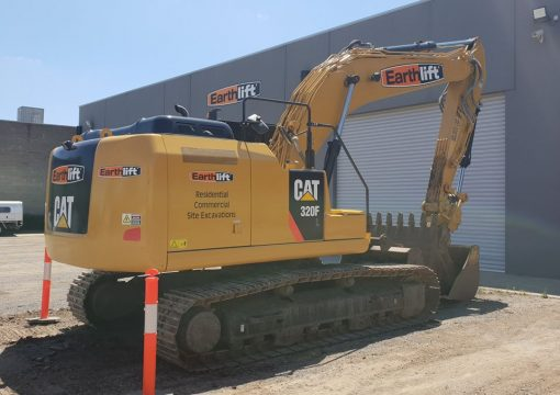 Excavator ready to go