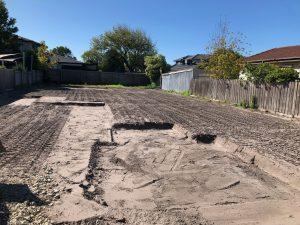 Site cut on a standard building block