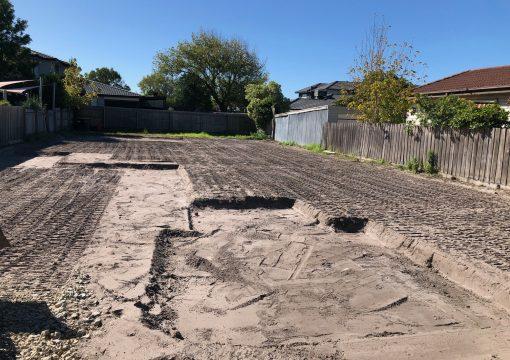 Site Cut on sandy site