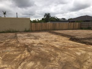 Large block with site excavations completed