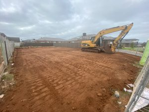 12 tonne excavator on a building site