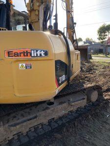 excavator onsite