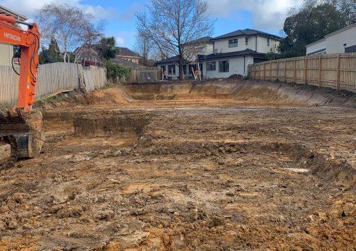 Deep residential excavation