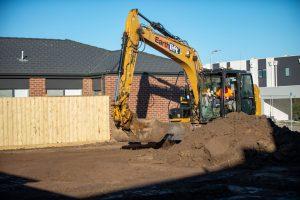 Site cut under way