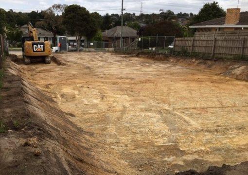 House excavation Melbourne