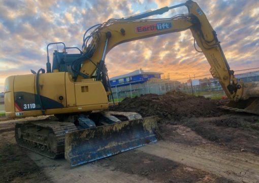 Site cut excavator