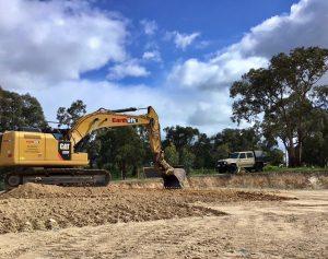 20 tonne excavator onsite
