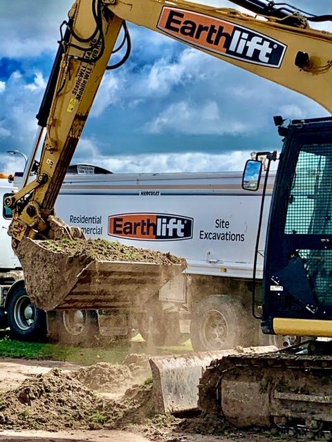 Excvator doing New Estate Site Excavation