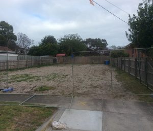 Sandy Site Cut Melbourne before shot