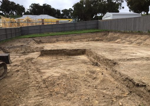 Site Cut Melbourne with soil removal