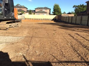 Residential excavation with soil removal