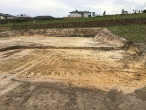 Site cut melbourne with steep batters