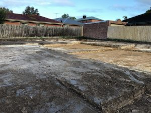 3 unit site cut from the driveway