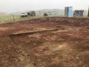 Site cuts in melbourne foggy weather